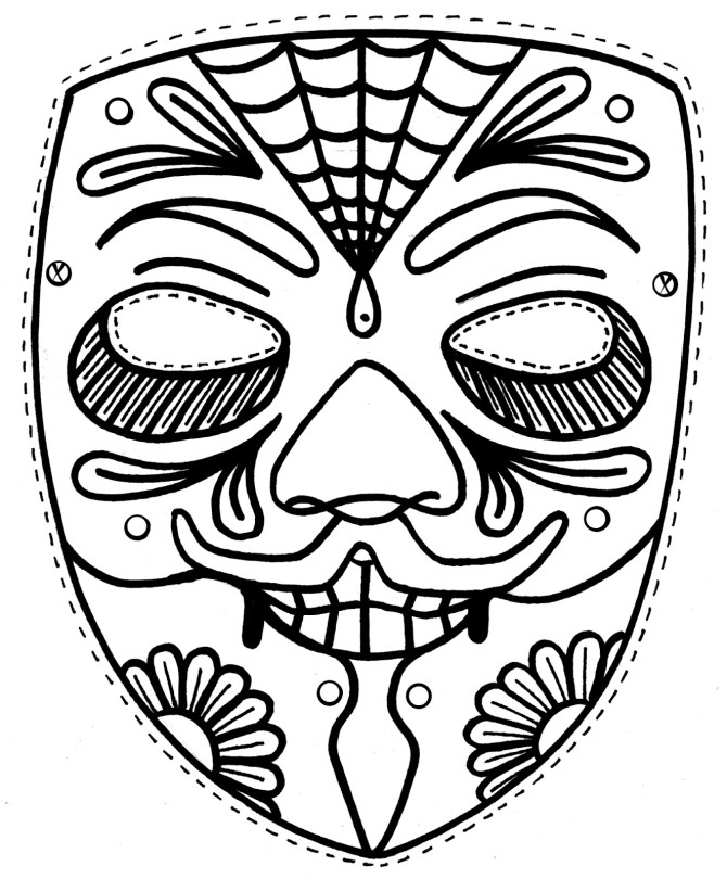 Free Coloring Pages African Masks   Coloring Pages for ...