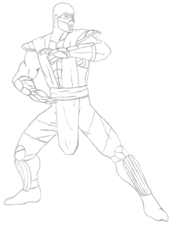 Free Printable Mortal Kombat Coloring Pages For Kids