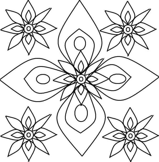 free printable rangoli coloring pages for kids - Rangoli Coloring Pages