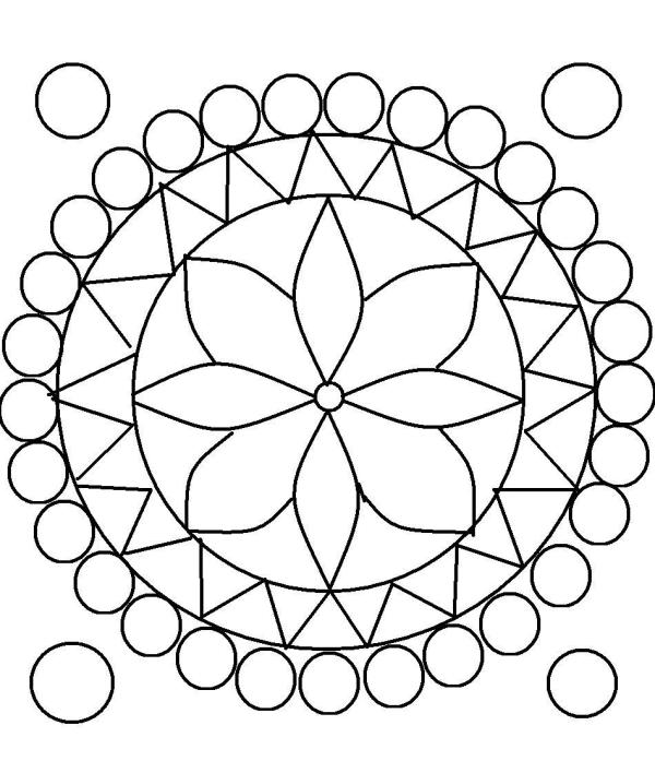 rangoli coloring pages # 8