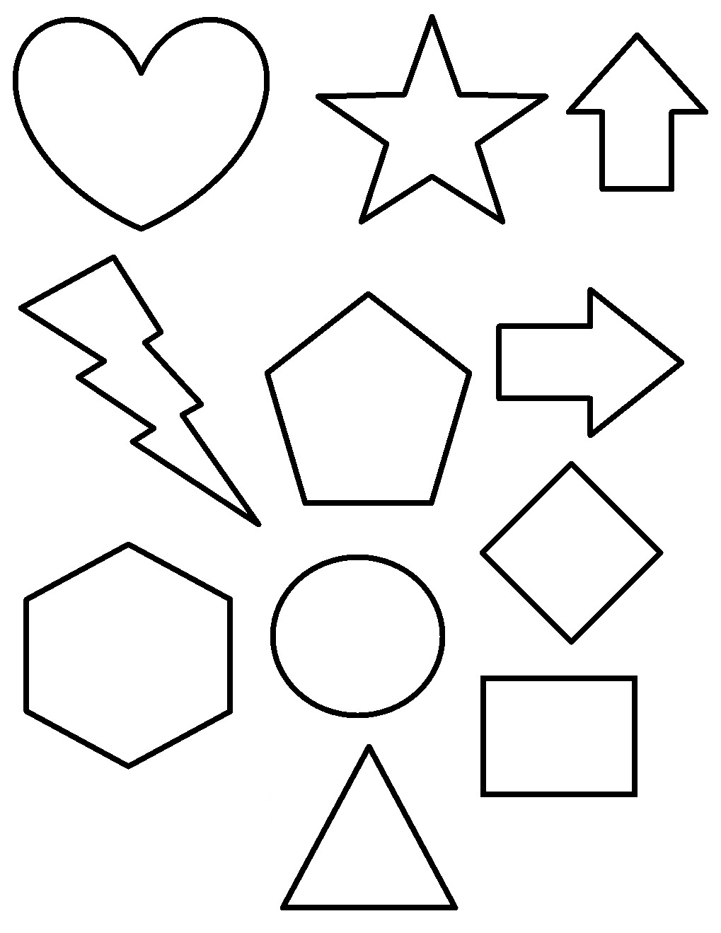 Free Printable Shapes Coloring Pages For Kids