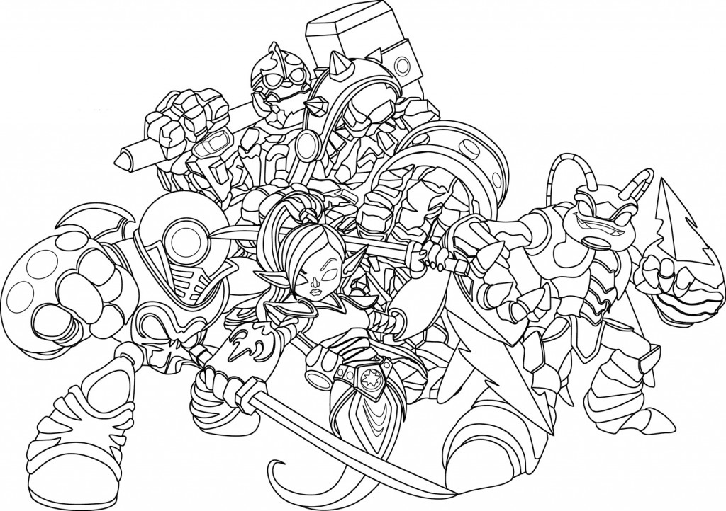 Free Coloring Pages Of Tree Rex Skylanders - Auto Electrical ...