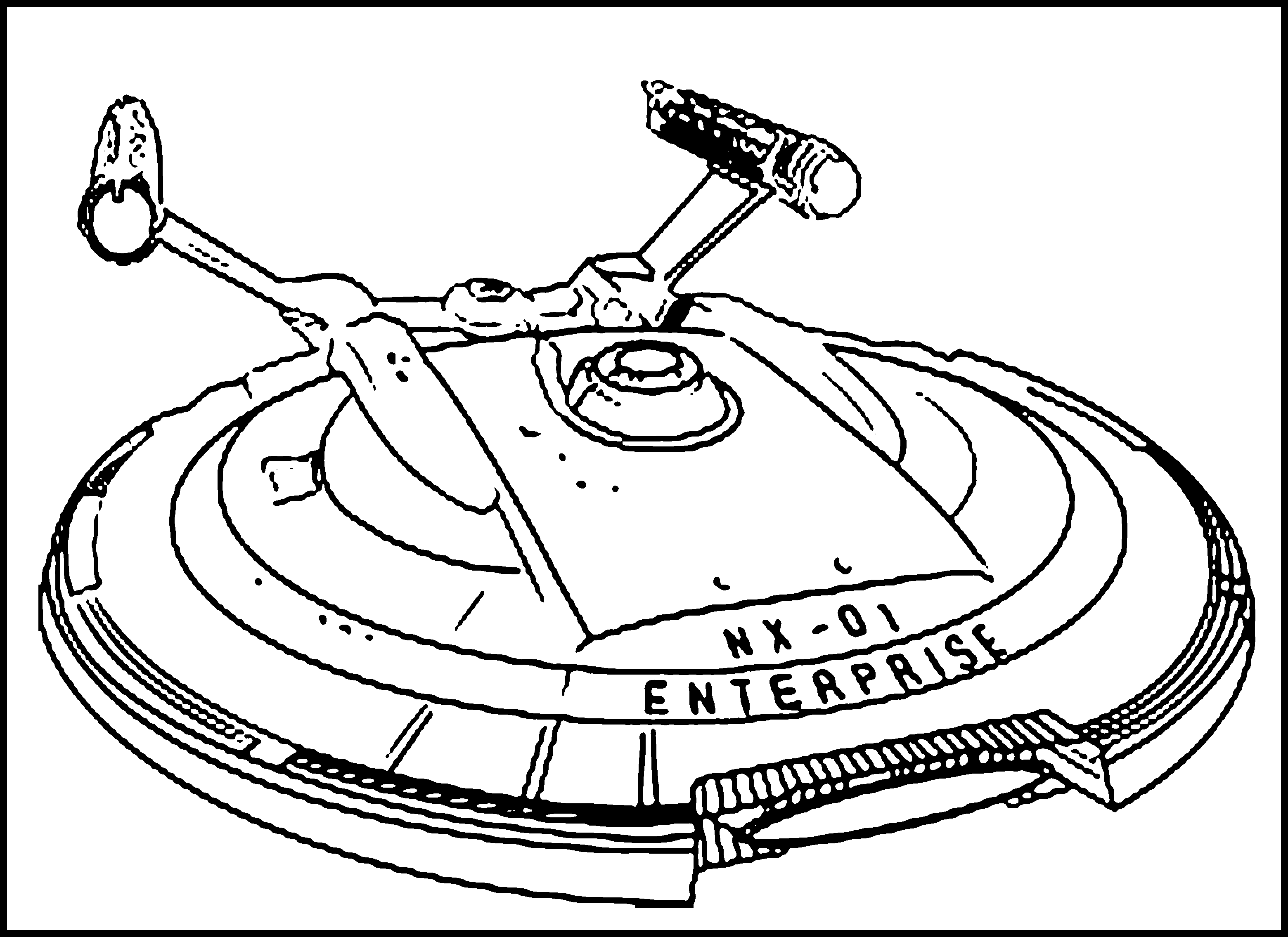 Free Printable Spaceship Coloring Pages For Kids