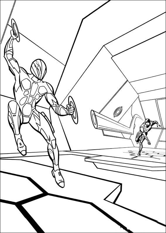 Free Printable Tron Coloring Pages For Kids