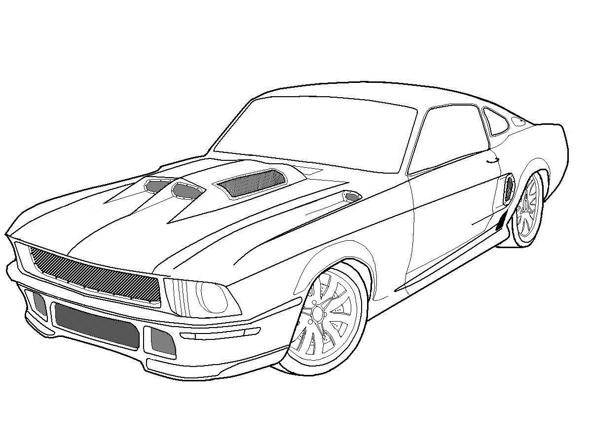 Car Drawing Ford Gt500