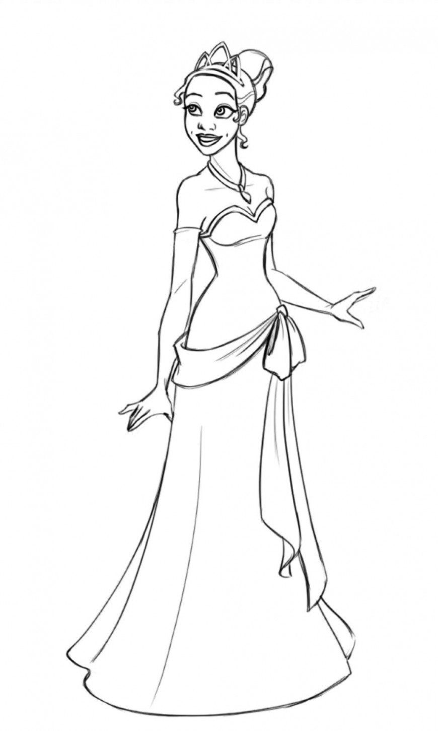 Free Printable Princess Tiana Coloring Pages For Kids