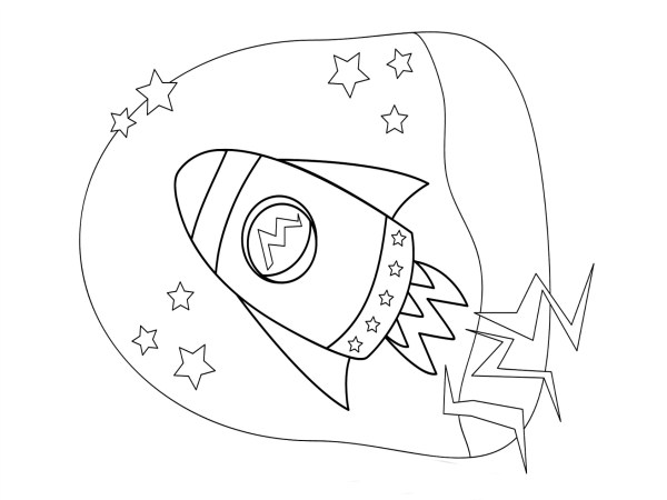 rocket ship coloring pages # 38