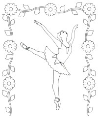 Free Printable Ballet Coloring Pages For Kids