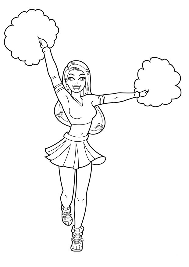 Cheerleader Coloring Pages For Kids Printable