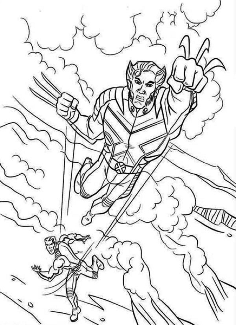 X Men Printable Coloring Pages
