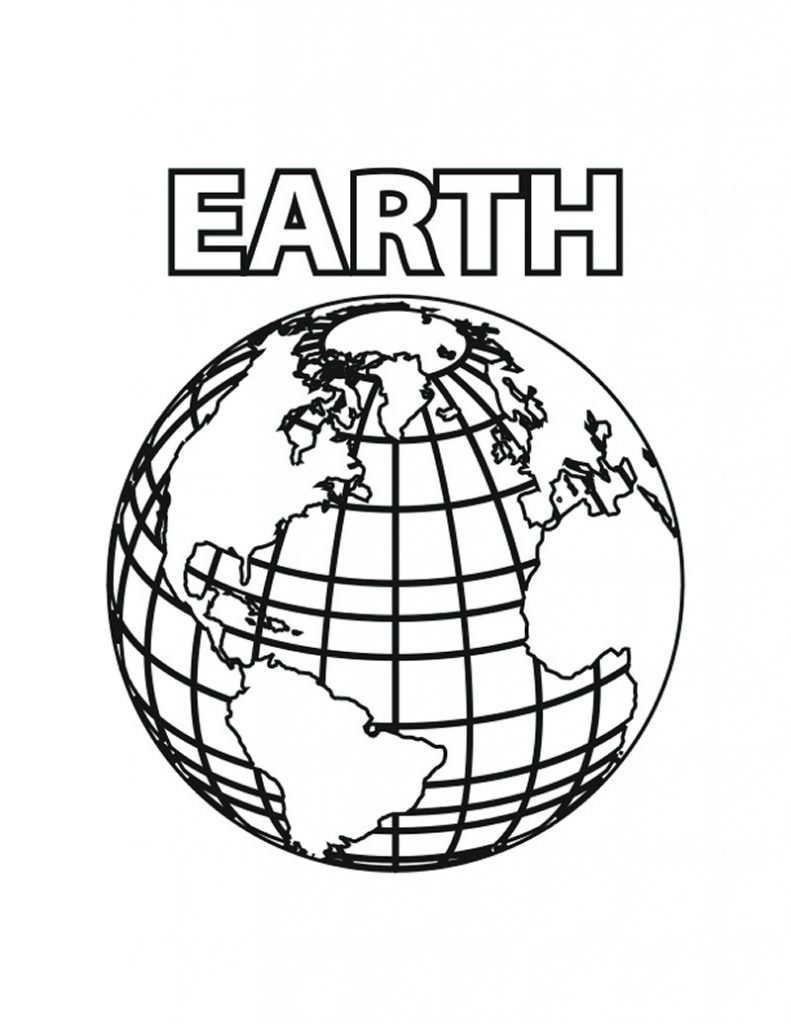 Free Printable Earth Coloring Pages For Kids