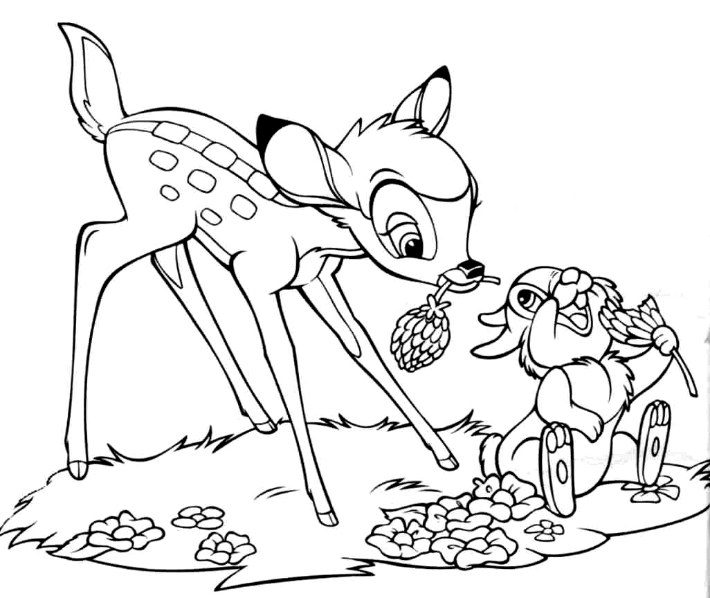 Free Printable Bambi Coloring Pages For Kids