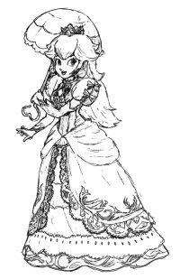 Rosalina Peach And Daisy Coloring Pages - Coloring Home | 309x200