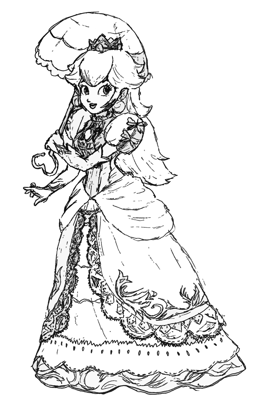 Free Princess Peach Coloring Pages For Kids   free coloring pages princess peach