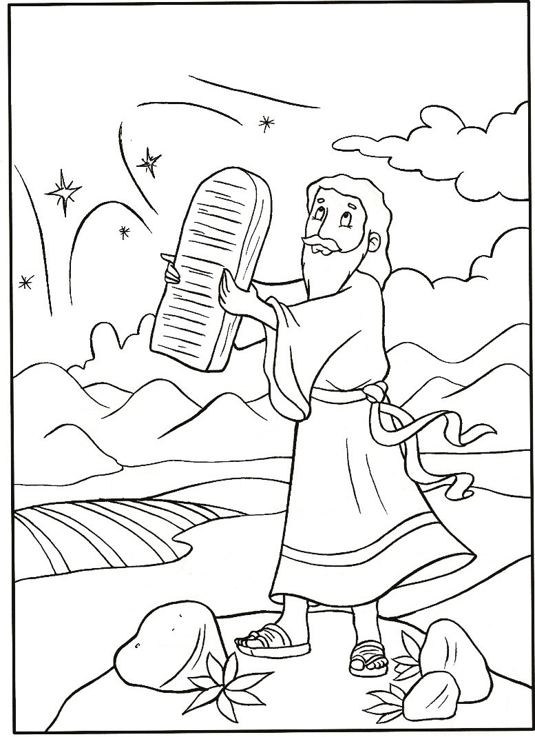 10 Commandments Coloring Pages For Preschool Coloring Pages
