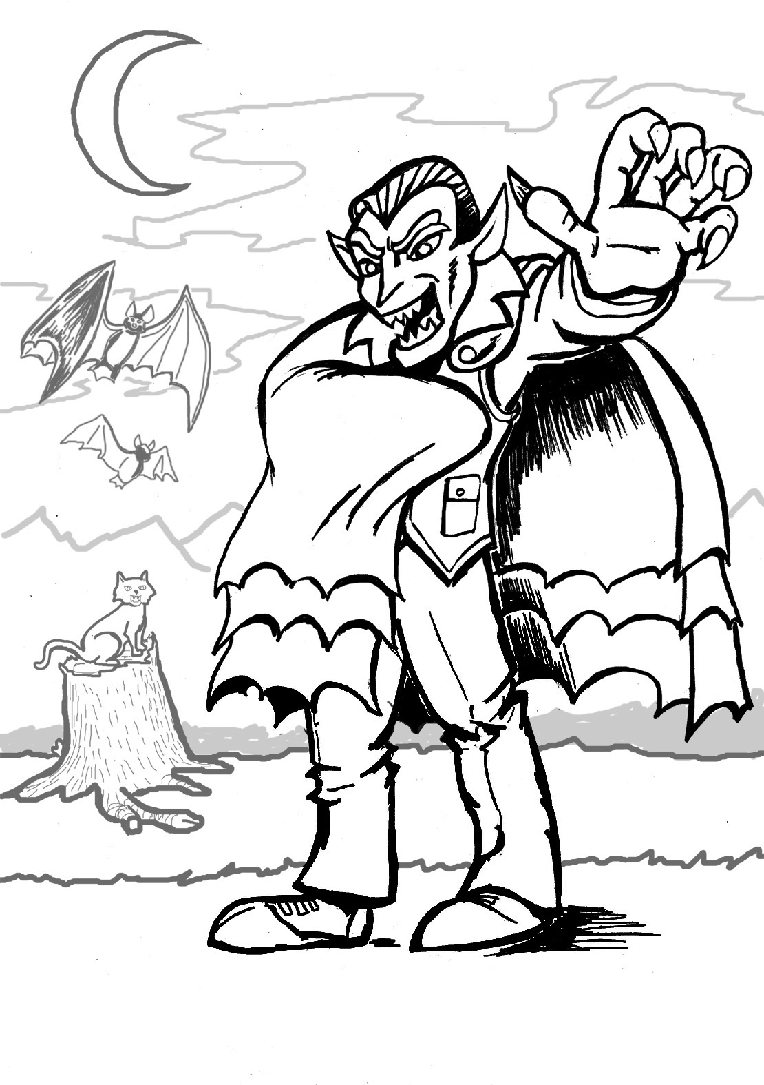 Free Printable Vampire Coloring Pages For Kids | free coloring pages printable