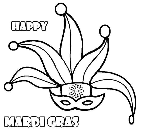 mardi gras coloring pages free printable # 18