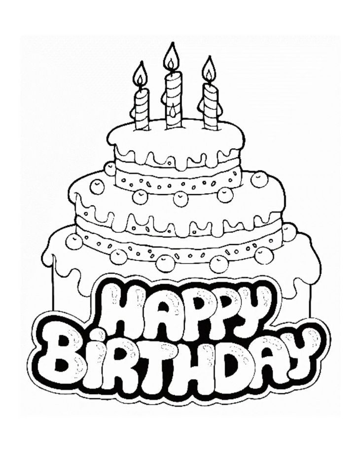 Animals And Flowers: Coloring Pages Printable Birthday. Birthday Cake Coloring Pages Printable Photos Birthday For Dragons Smartphone Full Hd Pics Kids