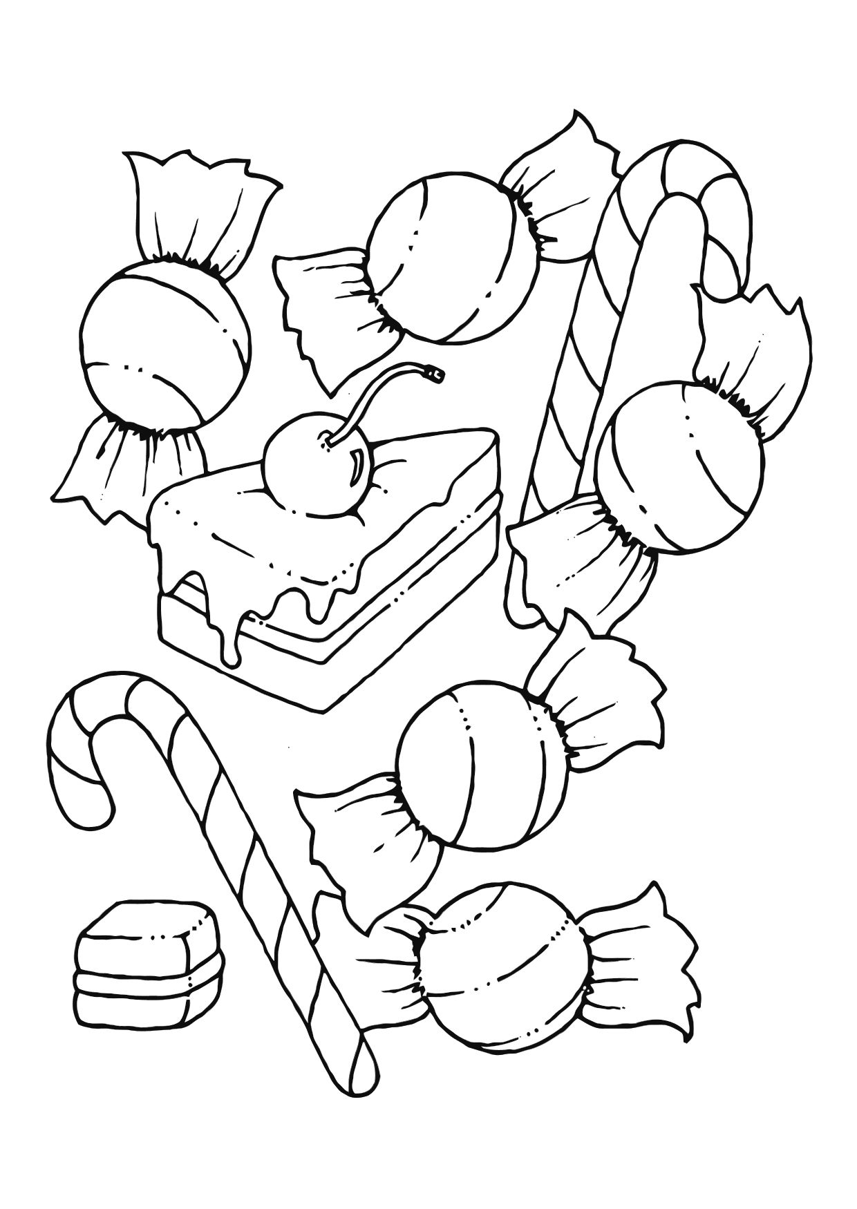 Free Printable Candy Coloring Pages For Kids