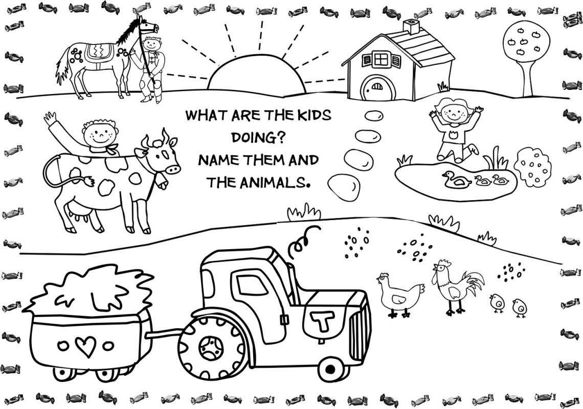 Free Printable Farm Animal Coloring Pages For Kids | free printable colouring pages farm animals