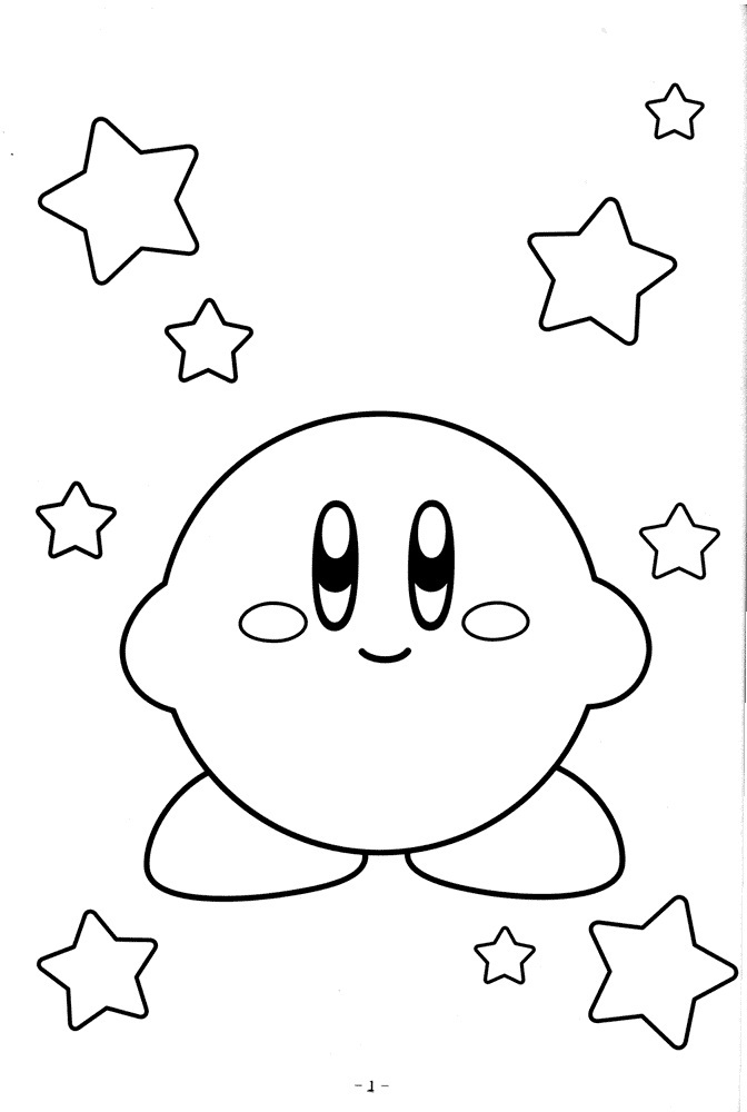 Free Printable Kirby Coloring Pages For Kids