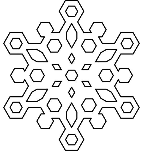 free printable snowflake coloring