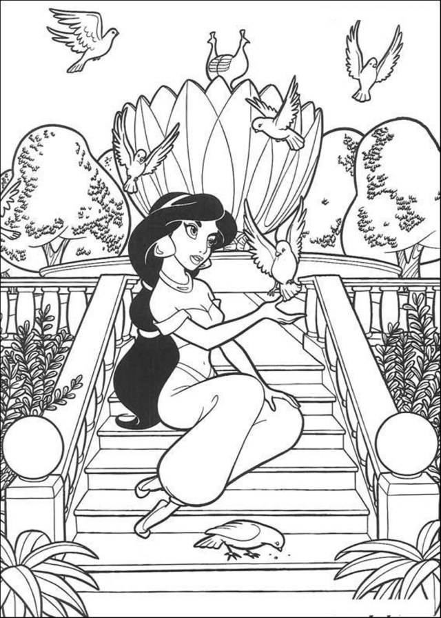 Free Printable Jasmine Coloring Pages For Kids - Best Coloring