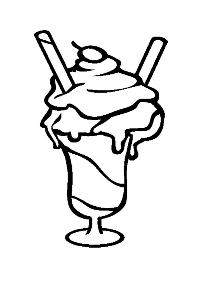 Milkshake Clipart Black And White