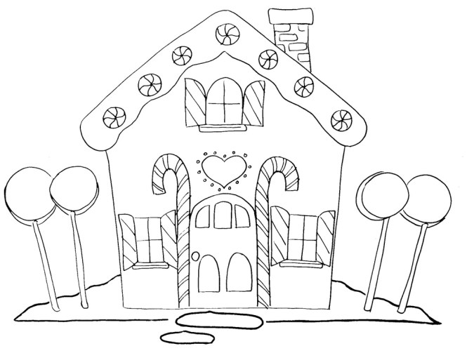 gingerbread house coloring pages | Coloring Page for kids