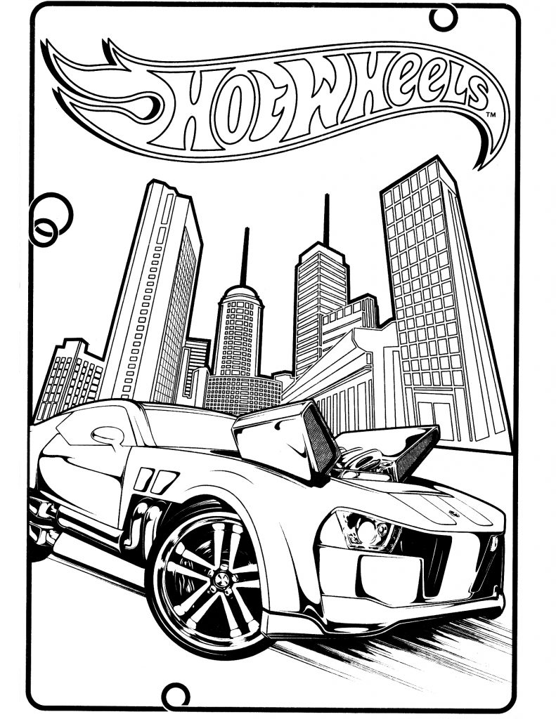 Free Printable Hot Wheels Coloring Pages For Kids
