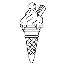 Ice Cream Coloring Sheets Printables