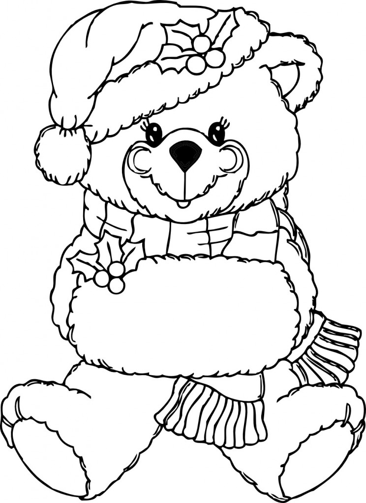 Teddy Bear Clipart Coloring Book