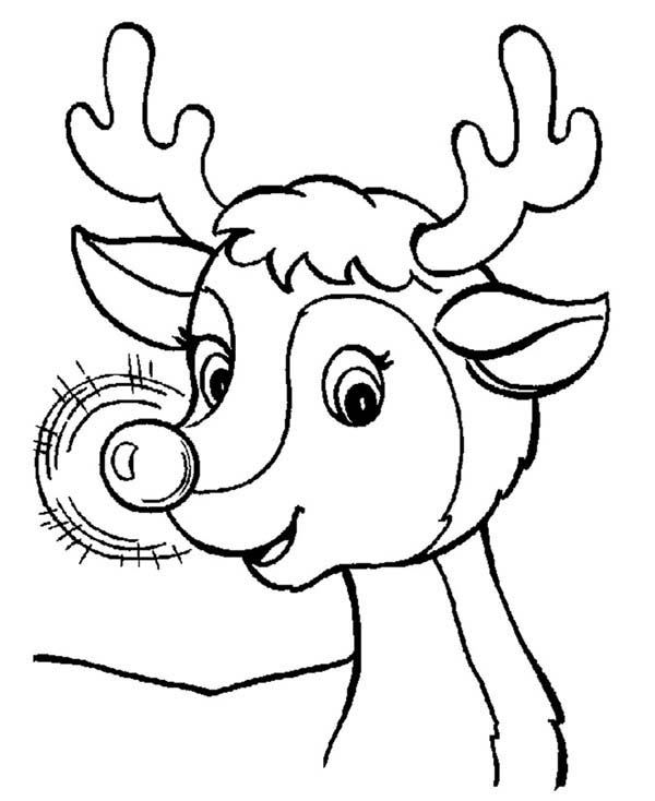 free printable rudolph coloring