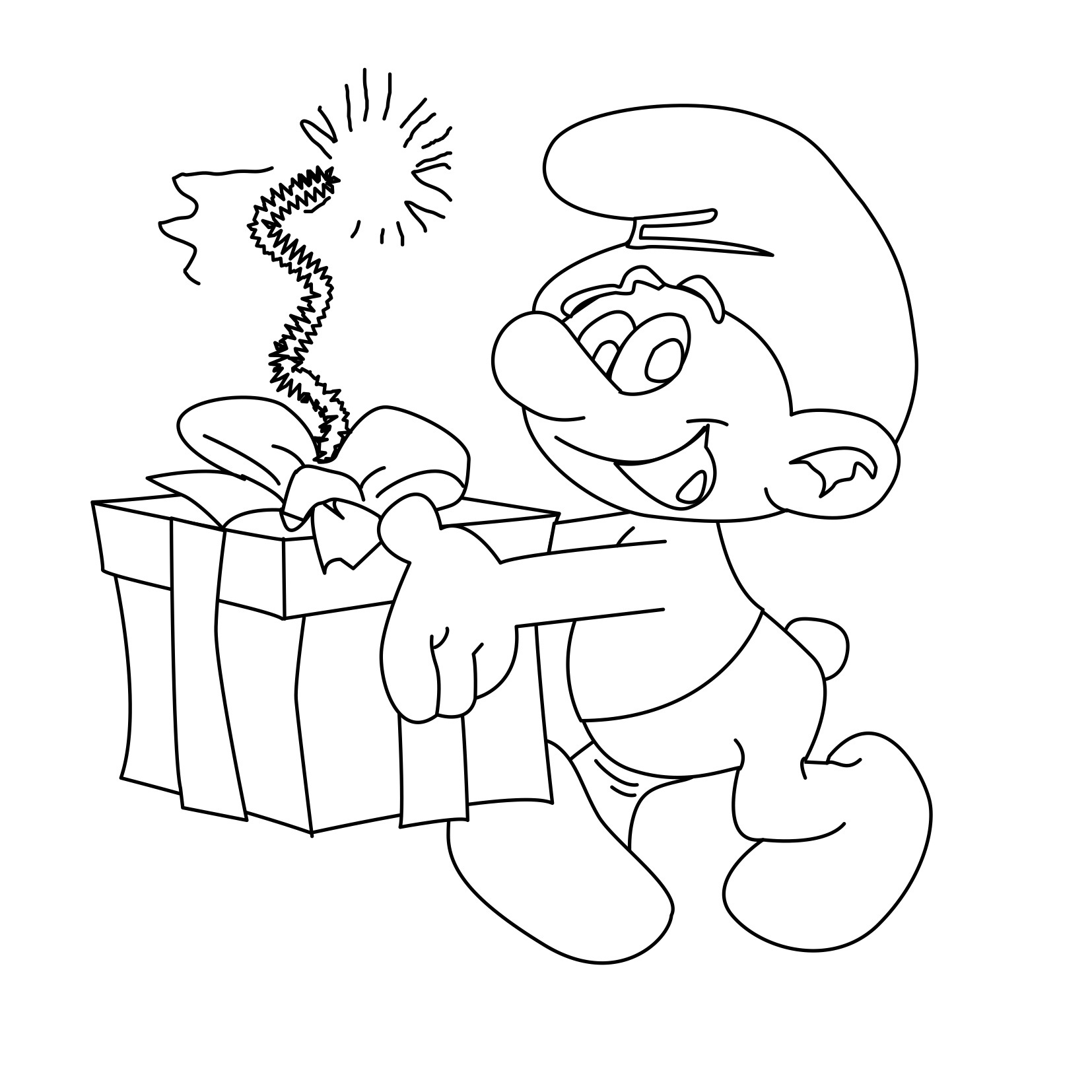 Free Printable Smurf Coloring Pages For Kids