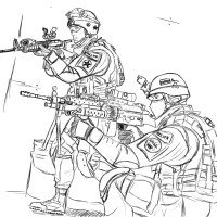 Army Coloring Page