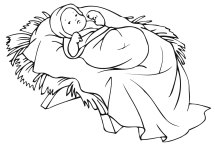Free Coloring Pages of Baby Jesus