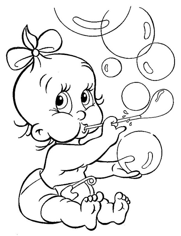 coloring pages of babies # 5