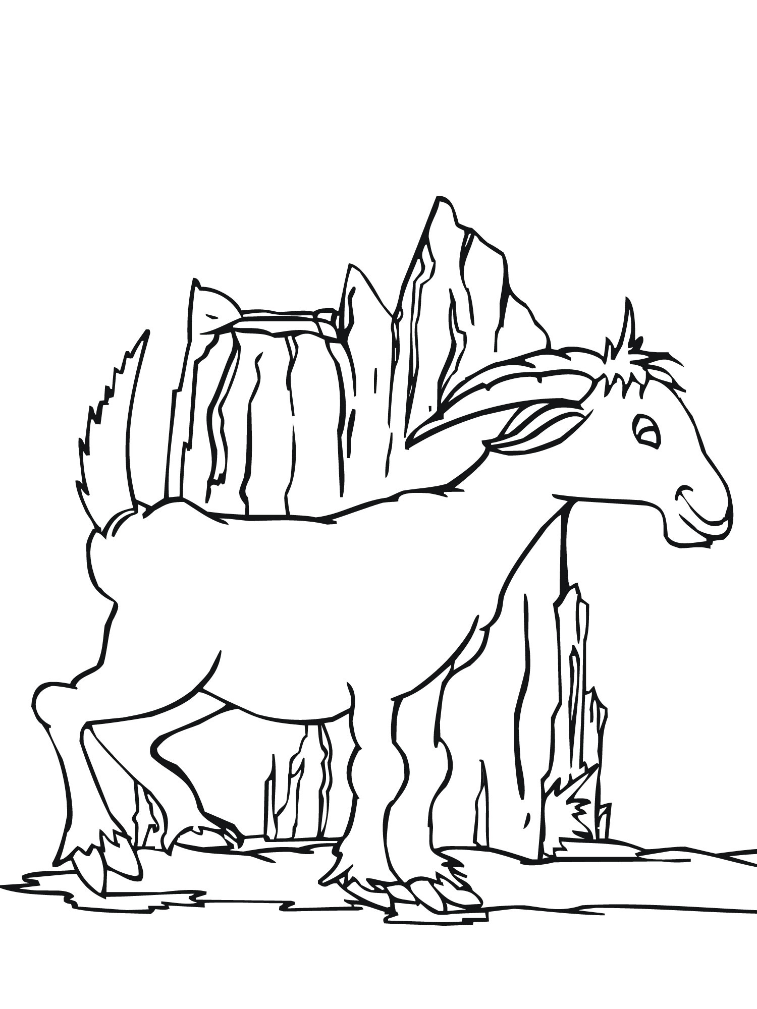 Goats Colouring Pages Sketch Coloring Page