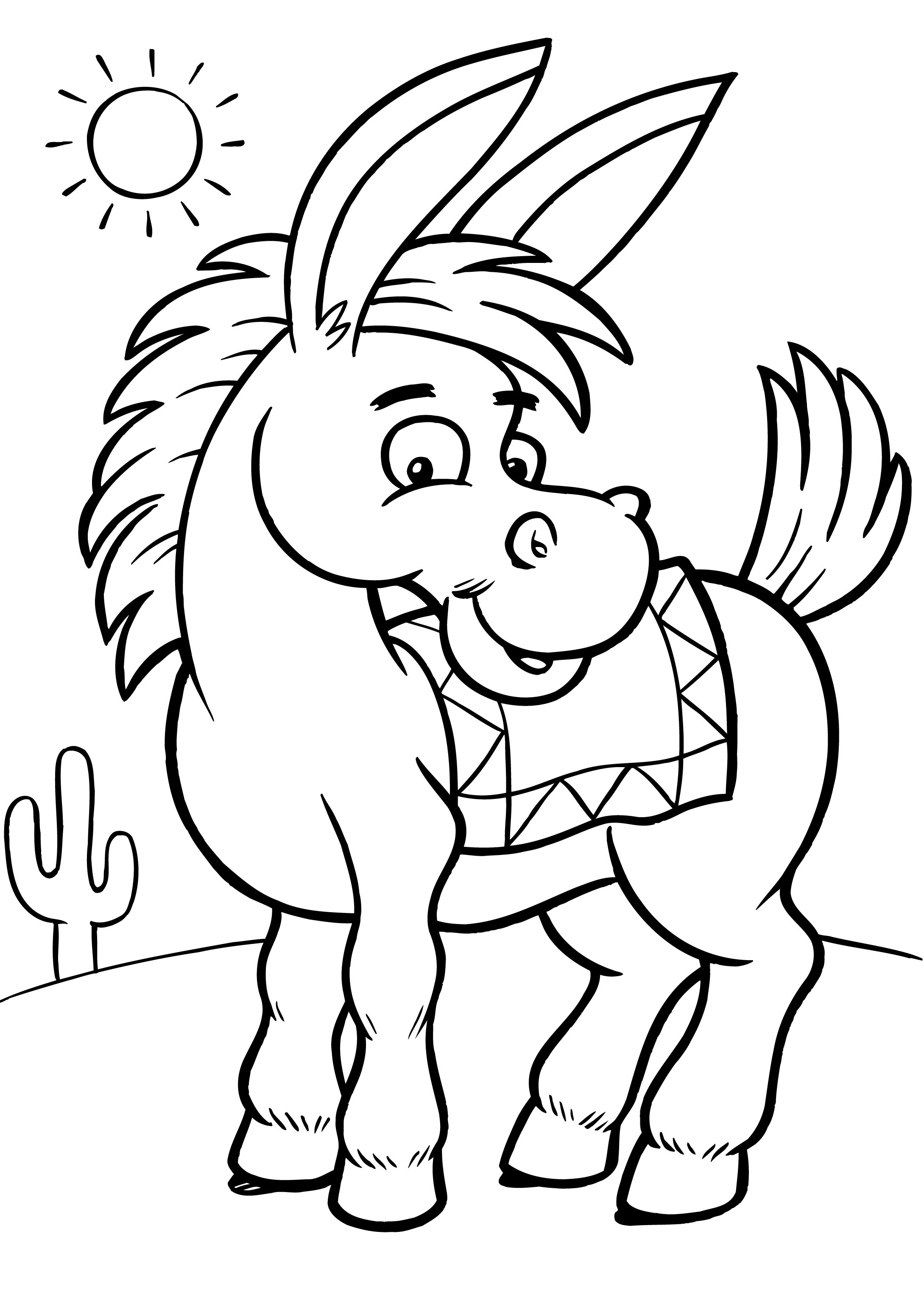 Free Printable Donkey Coloring Pages For Kids   free coloring pages for toddlers