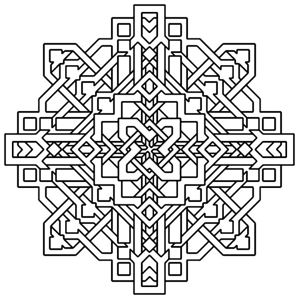 geometric coloring page # 9