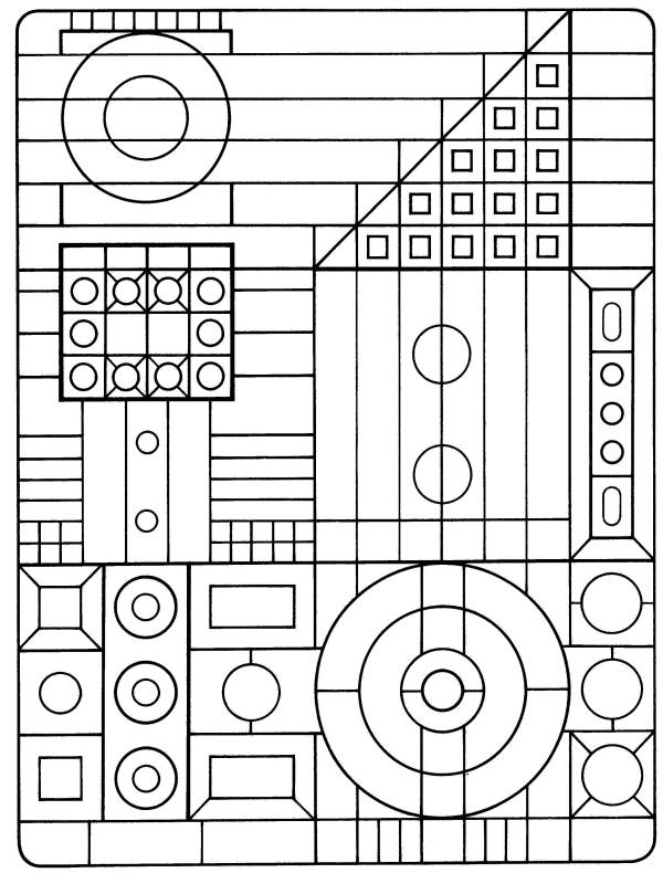 geometric coloring page # 65