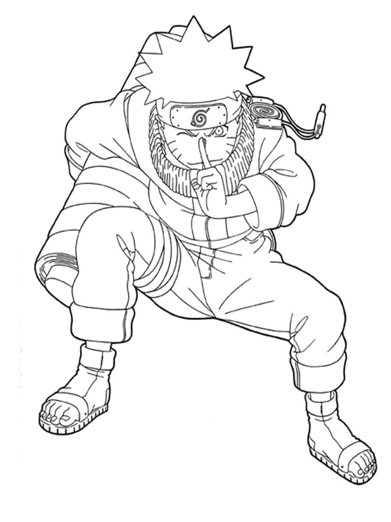 Naruto With Sasuke Anime Coloring Page For Kids Manga Auto