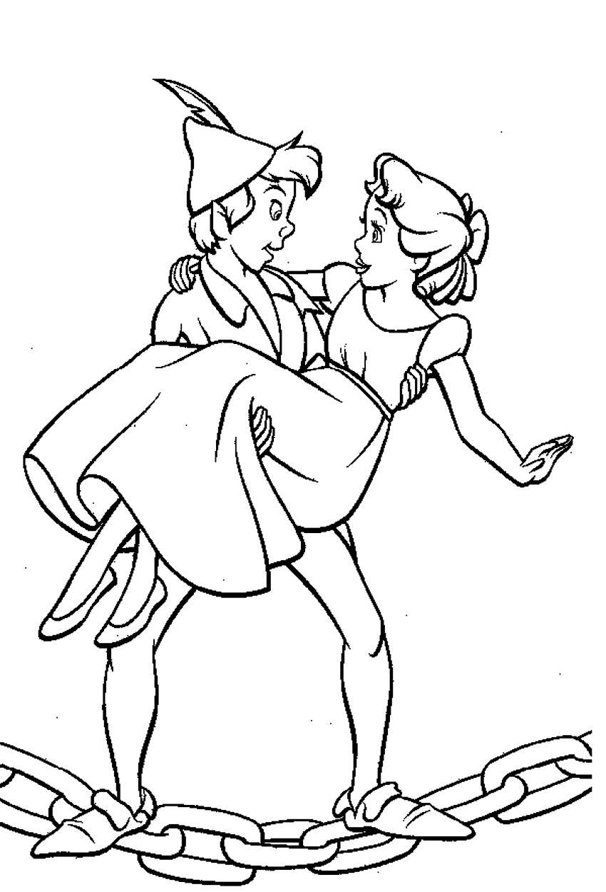 Peter Pan And Wendy Coloring Pages Coloring Pages