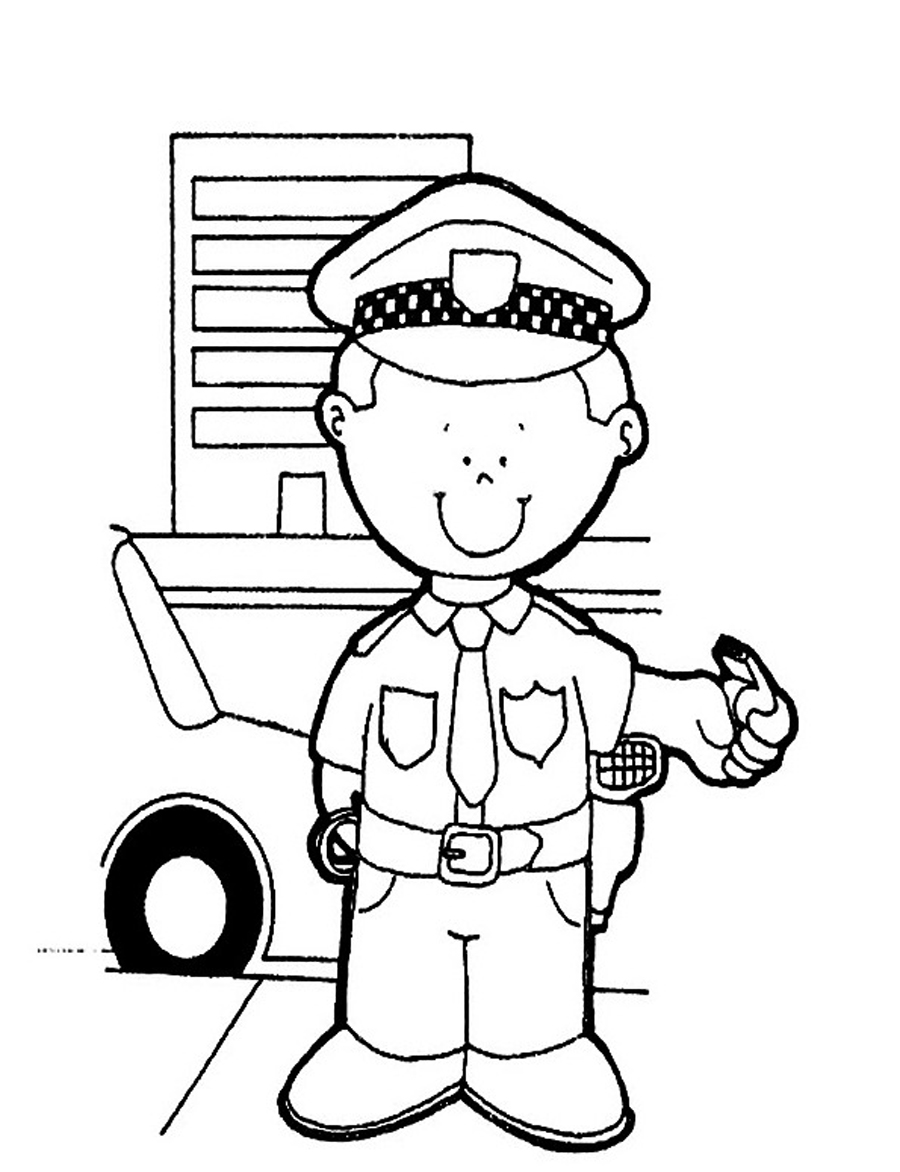 Free Printable Policeman Coloring Pages For Kids