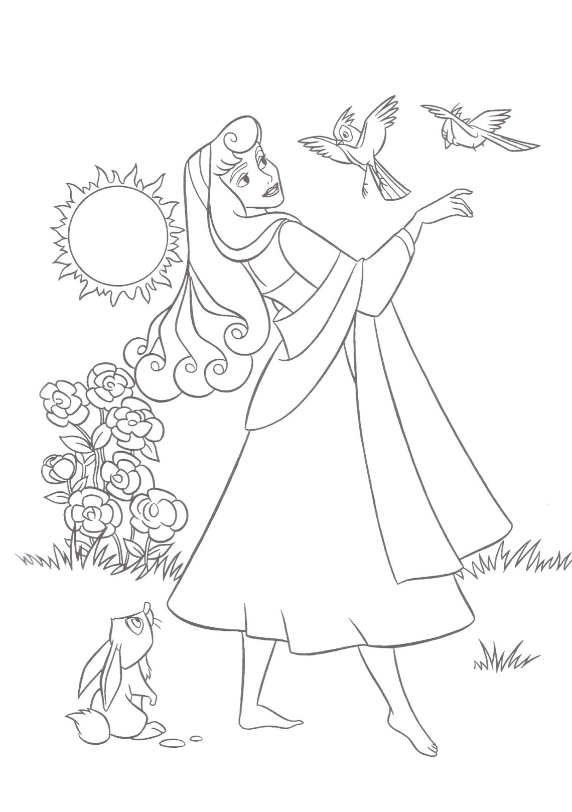 Free Printable Sleeping Beauty Coloring Pages For Kids | coloring pages for childrens