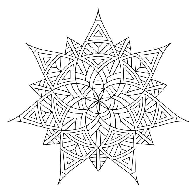 Free Geometric Coloring Pages