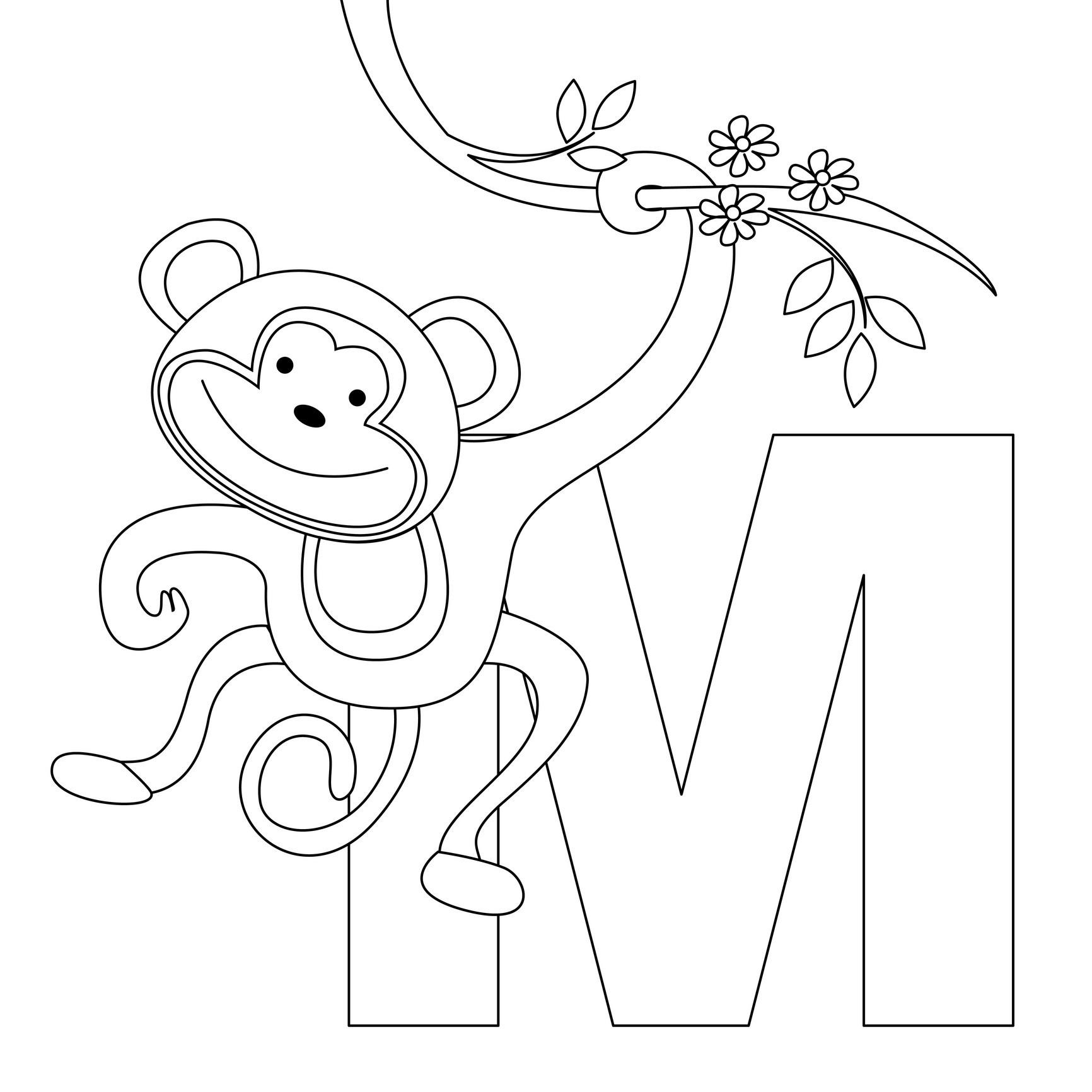 Letter M Coloring Worksheet