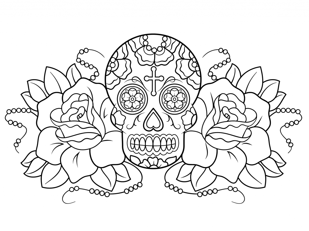 Free Printable Day of the Dead Coloring Pages  Best Coloring Pages For Kids