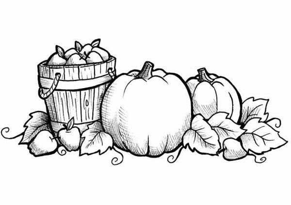 fall coloring pages printable free # 2