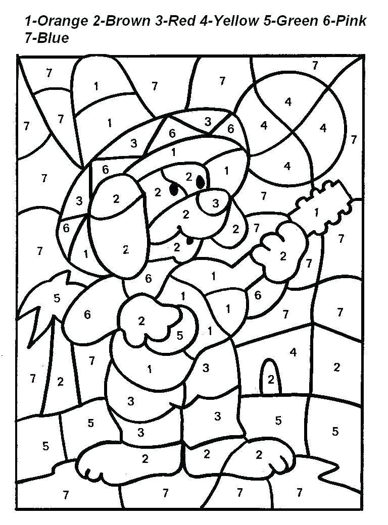 Number Coloring Pages For Kids Fall